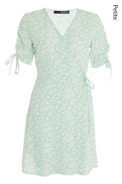 Petite Green Floral Midi Dress
